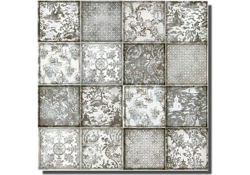 Iris Maiolica 563213 20x20x0,7 decor ornamenta grigio