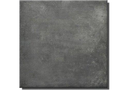 Vloertegel: Steuler Terre Zwart 75x75cm