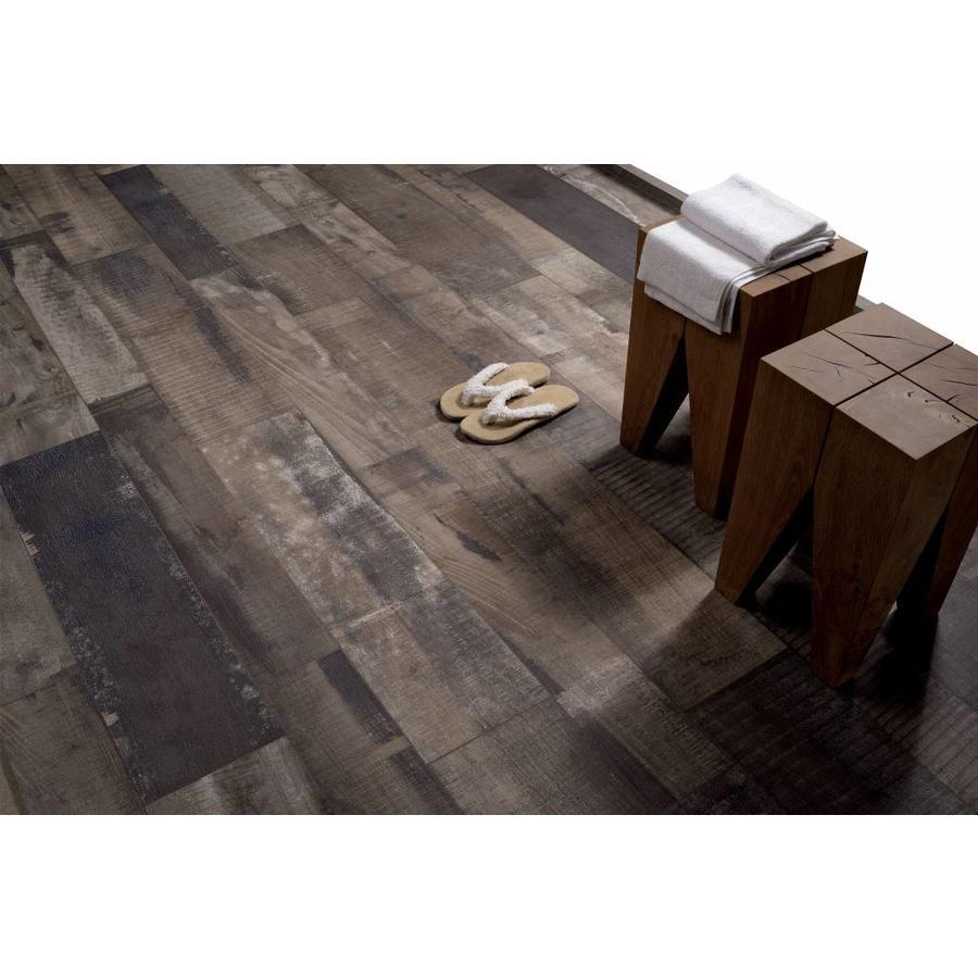 Vloertegel: Fioranese Old Wood Bruin 22,5x90cm