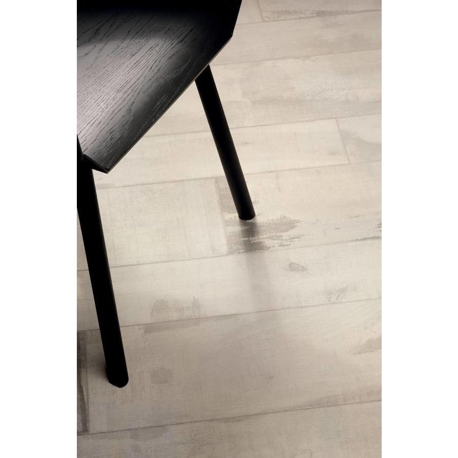 Vloertegel: Fioranese Old Wood Wit 15x90cm