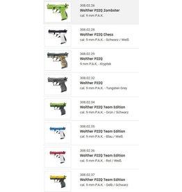 Walther P22Q 9 mm P.A.K. - 9 verschiedene Modelle zur Auswahl