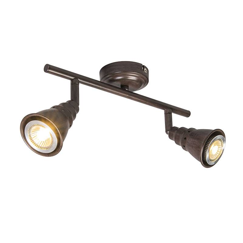 Lamponline Spot Riviera LED roest bruin 2 lichts