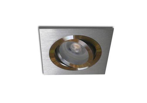 Kelpa Inbouwspot Brescia vierkant aluminium