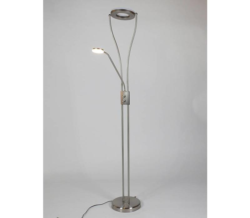Vloerlamp Gotcha LED mat-chroom