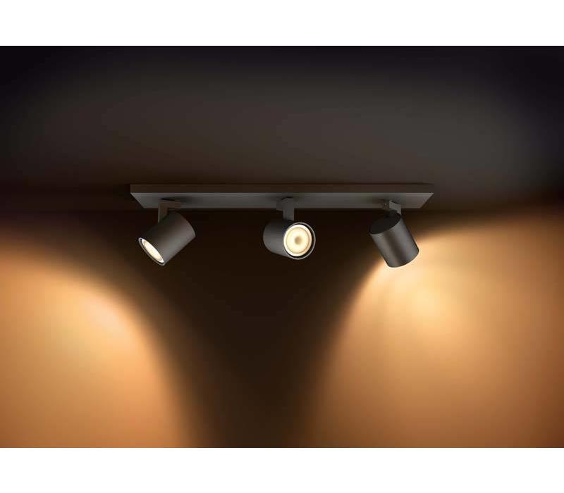 Spot HUE Runner 3 lichts zwart Philips