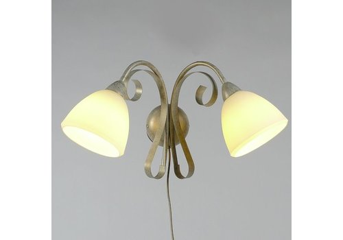 LAM Wandlamp ViaDese 2 lichts ivory