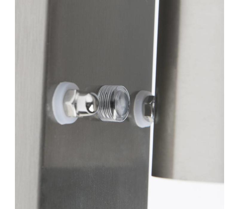 Buitenlamp Sense mat chroom LED 1 lichts dag nacht sensor