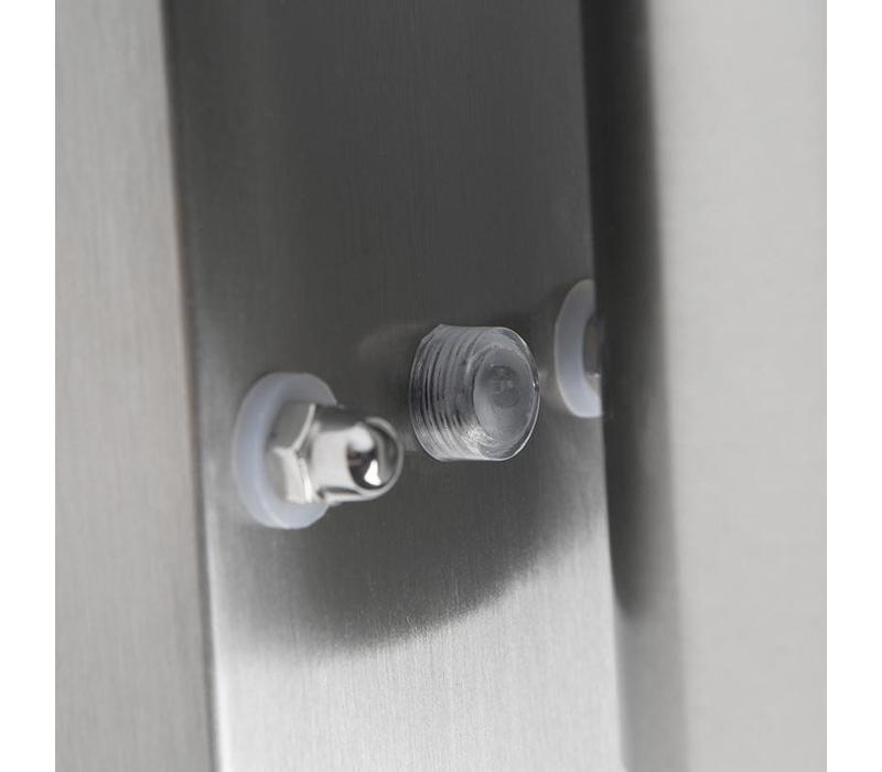 Buitenlamp Sense mat chroom LED 2 lichts dag nacht sensor