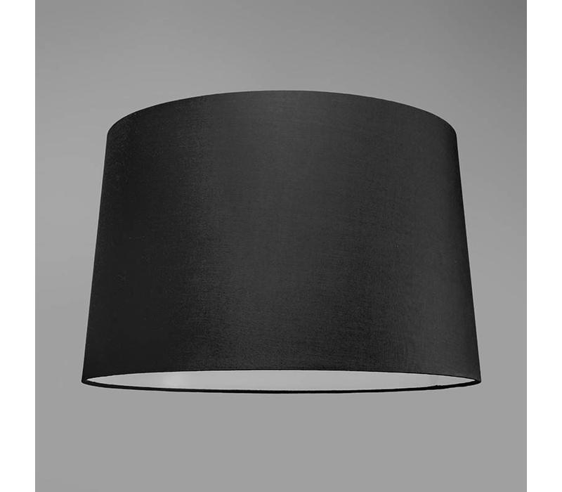 Booglamp XXL mat-chroom zwarte kap
