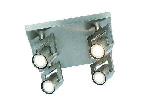 Freelight Spot Valvoled mat chroom 4 lichts vierkant