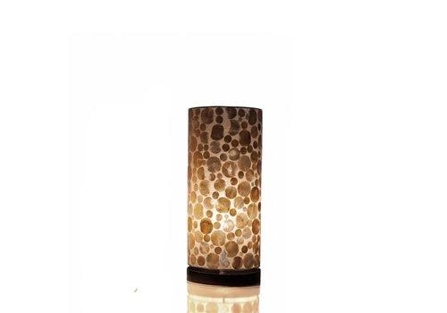 VillaFlor Tafellamp schelp Coin Gold cilinder groot