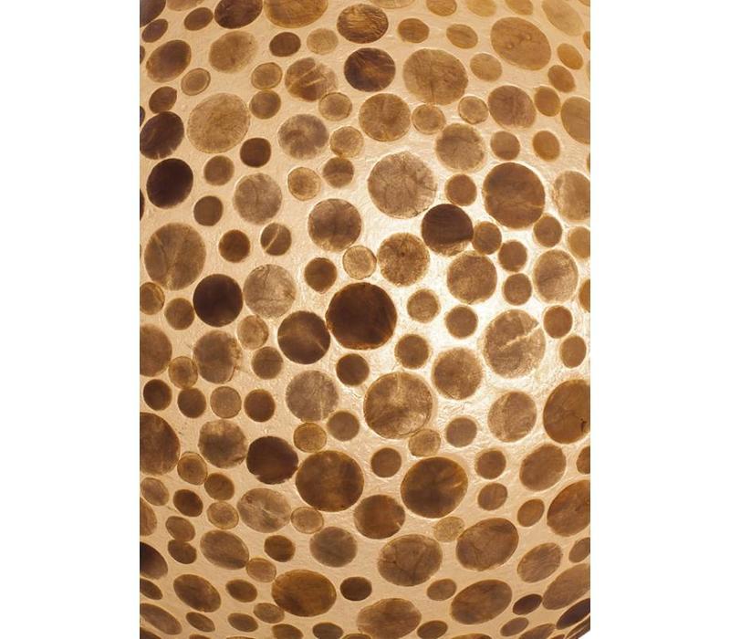 Hanglamp schelp Coin Gold ufo 60 cm
