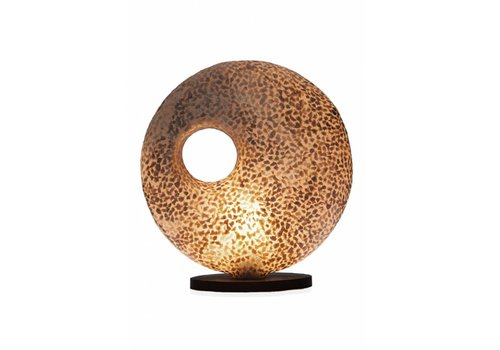 VillaFlor Tafellamp schelp Wangi Gold donut