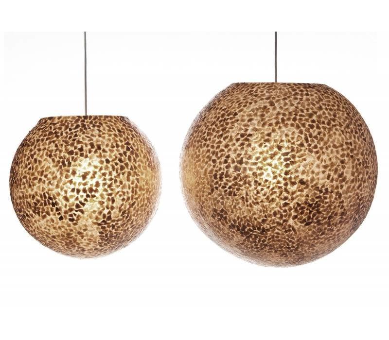Hanglamp schelp Wangi Gold bol 50 cm