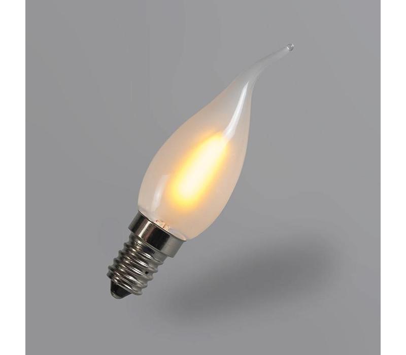 LED E14 tipkaars mat 1 Watt filament
