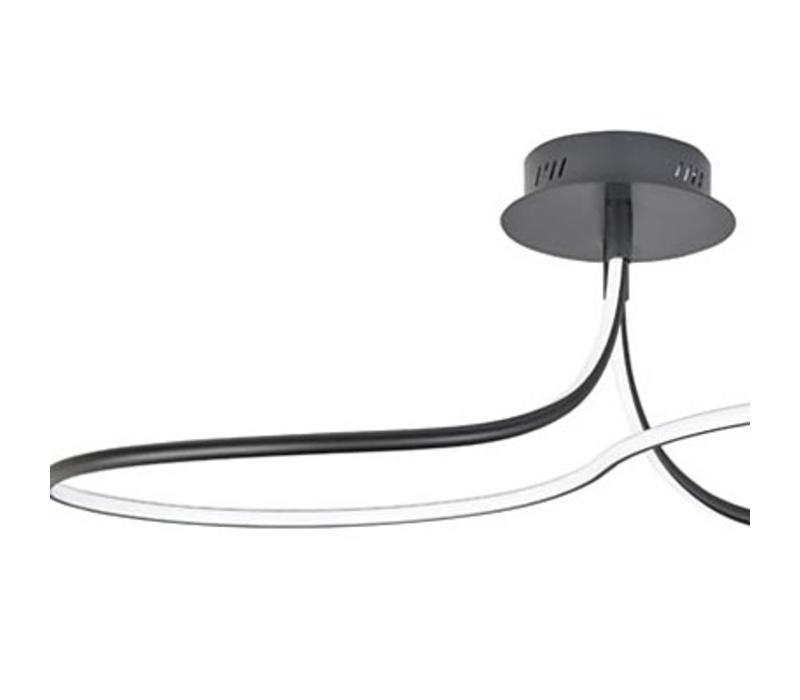 Plafondlamp Basel groot zwart