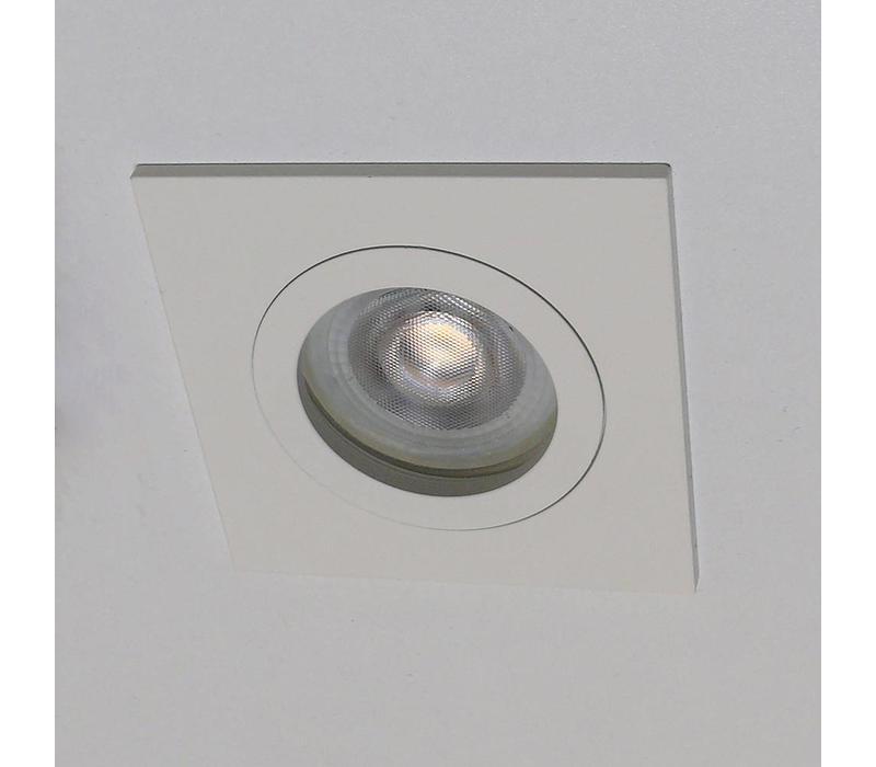 Inbouwspot Basel vierkant wit
