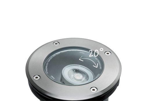 Paulmann Plug & Shine buitenlamp grondinbouwspot 6 Watt 20° koel wit licht