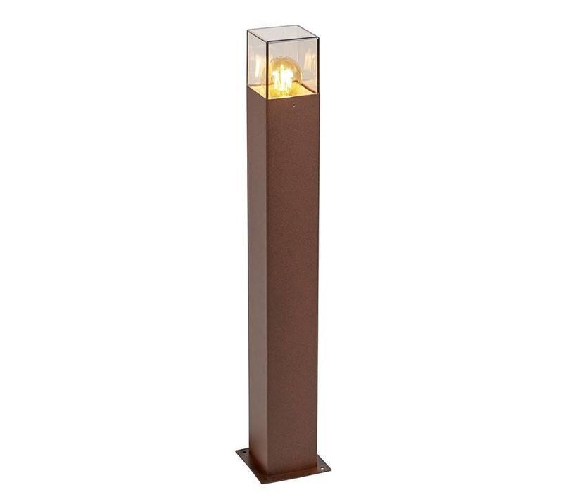 Buitenlamp Cube staand bruin groot