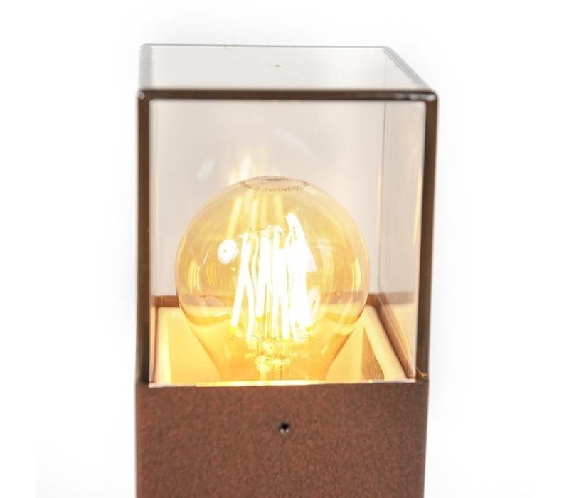 Buitenlamp Cube staand bruin medium
