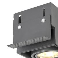 Inbouwspot Bado 2 lichts Gu10 zwart Trimless