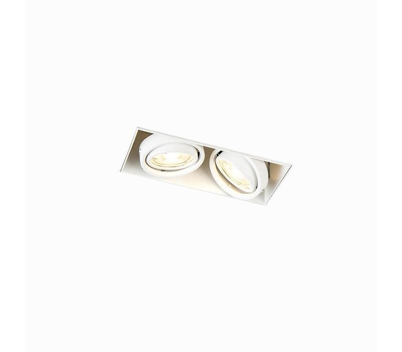 Inbouwspot Bado 2 lichts Gu10 wit Trimless