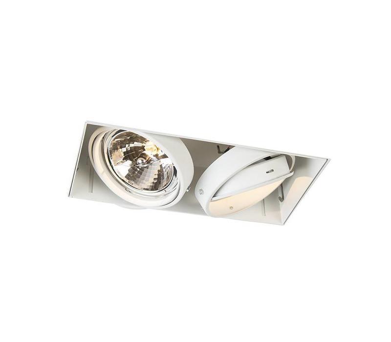 Inbouwspot Bado 2 lichts AR111 wit Trimless