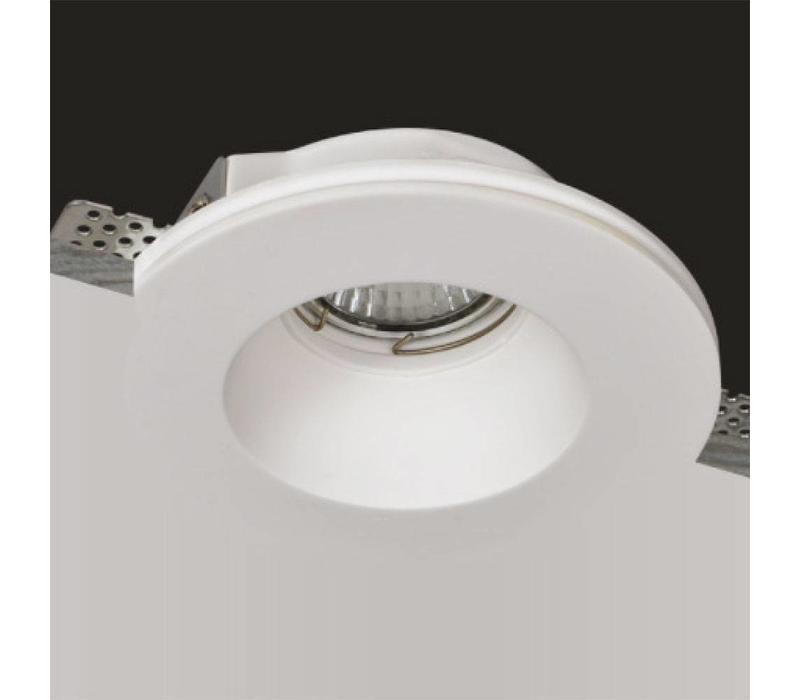 Inbouwspot Badu 1 lichts rond Trimless gips