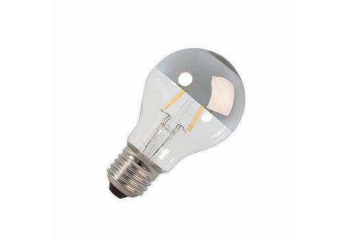 Calex LED E27 lamp 4 Watt kopspiegel chroom filament