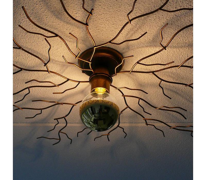 Plafondlamp Bichero groot goud