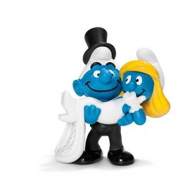 Schleich Smurf Marriage Couple