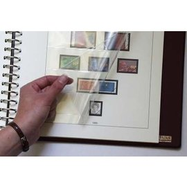 Lindner pre-printed album pages Dutch Antilles