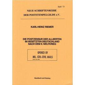 Poststempelgilde Postzensur Deutschland Allierte Besatzung