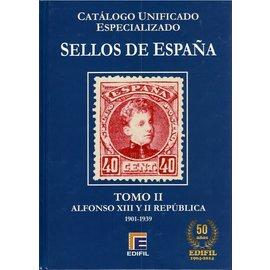 Edifil Sellos de España Tomo II Alfonso XIII Y II República 1901-1939