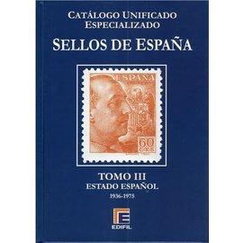 Edifil Sellos de España Tomo III Estado Espanol 1936-1975