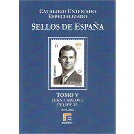 Edifil Sellos de España Tomo V Juan Carlos I  Felipe VI 2001-2016
