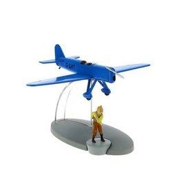 moulinsart Kuifje blauw racevliegtuig
