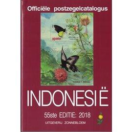 Zonnebloem Officiele postzegelcatalogus Indonesië 2018