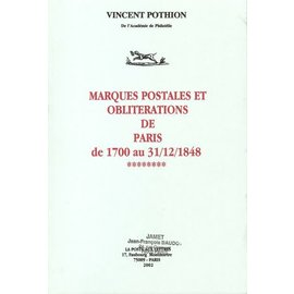 Jamet Marques Postales et Oblitérations de Paris de 1700 au 31/12/1848