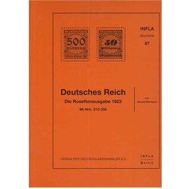 Infla Deutsches Reich Die Rosettenausgabe 1923