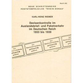 Poststempelgilde Devisenkontrolle im Auslandsbrief- und Paketverkehr im Deutschen Reich 1933 bis 1939
