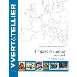 Yvert & Tellier Timbres d'Europe Volume 4 de Pologne à Russie