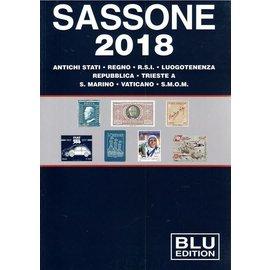 Sassone Blu 2018 Antichi stati · Regno · R.S.I. · Luogotenenza · Repubblica · Trieste · S. Marino · Vaticano · S.M.O.M.