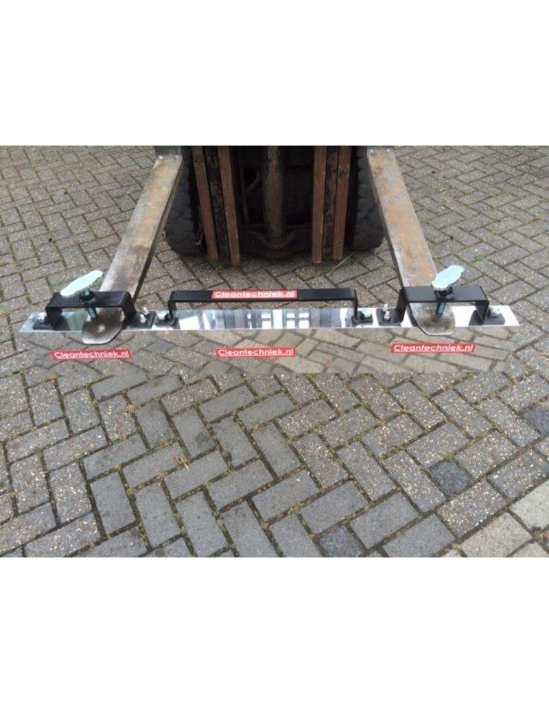 Cleantechniek Magneetveger met lossysteem voor heftruck en tractoren