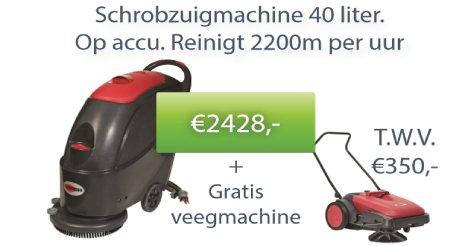 Nu een gratis veegmachine bij aankoop van deze schrobmachine