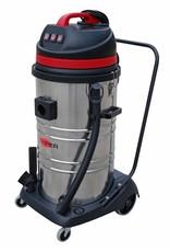 viper Professionele stofwaterzuiger van 95 Liter. Met RVS container