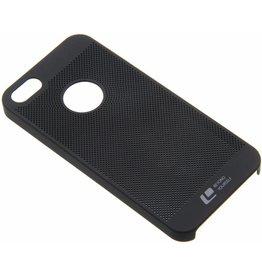 iPhone 5 / 5S / SE Smart Smiley Hard Back Case Tiny Holes Black