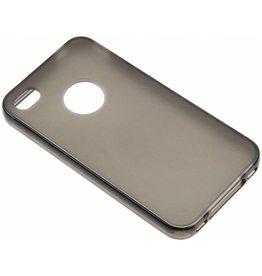 iPhone 4 / 4S Smart Smiley TPU Case TPU Black-Transparent