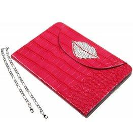 iPad Mini / 2 / 3 Portable Protective Case Glitter Lips Dark Pink