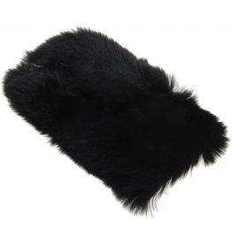 iPhone 5 / 5C / 5S / SE Rabbit Fur Case Plastic Black